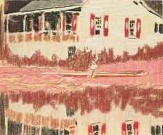 """Peter Doig, British, born 1959, Camp Forestia, 1996, Pastel on paper, 7 7/8 x 9 1/2"""" (20 x 24.1 cm), The Museum of Modern Art. The Judith Rothschild Foundation Contemporary Drawings Collection Gift, © 2009 Peter Doig."""