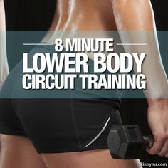 Get a sexy and toned lower half with this 8 Minute Lower Body Circuit Training #lowerbody #circuittraining #workout #sexy #butt