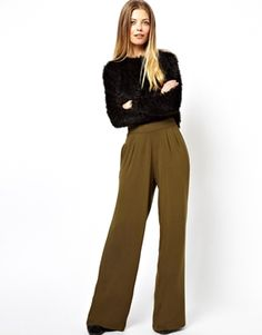 ASOS Pants in Wide Leg // would be an awesome work look