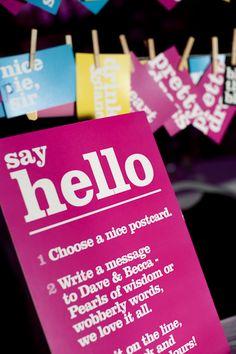 wedding guest book, postcard guestbook, guest book alternatives, book idea, guest books