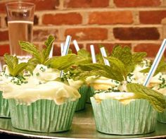 Yummy Link: Mint Julep Cupcakes