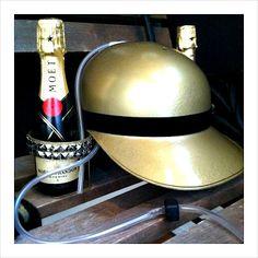 Champagne Helmet! Kickin it up a notch.