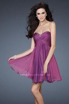 La Femme Short Sweetheart Prom Dress - Style 18177