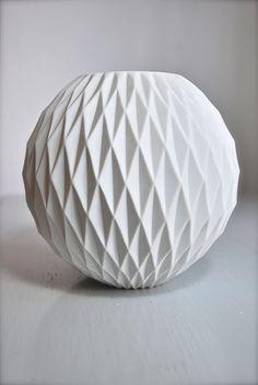 West German Modernist Matte Porcelain Honeycomb Vase by Thomas