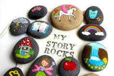 Story Stones and Painted Rocks / Fairy and by Thrive360Living