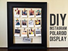 DIY Instagram Display |Persnickety Blog
