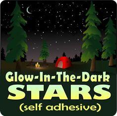 Glow in the Dark Stars & Moon Ceiling stickers for Kids Room / Nursery
