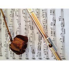 Flute + music + rose