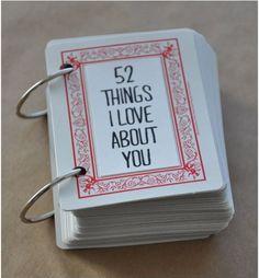 diy de amor, librito con cartas