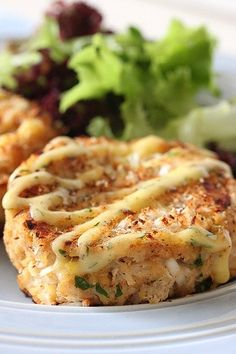 Crabcakes with Lemon Dill Mayonnaise #crab #crabcake #mayo #recipe #recipes #food #seafood #cooking