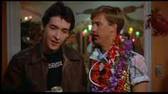 john cusak and anthony edwards in The Sure Thing!