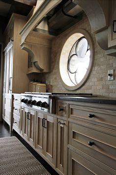 Designed by Yvonne McFadden LLC interior design, kitchens, color schemes, kitchen cabinet colors, kitchen windows, cabinet doors, kitchen design, cliff resid, kitchen cabinets