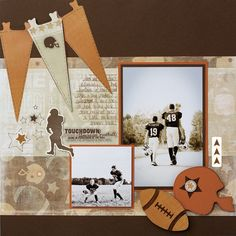 Football Addition Scrapbook Workshop Layout Idea from Creative Memories
