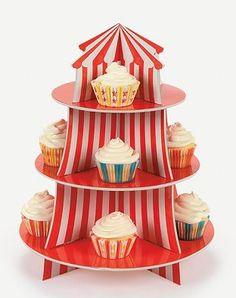 circus cupcake stand