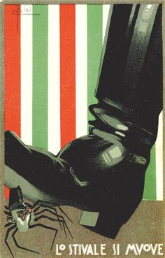 Postal del libro de Henry Sturani Italia despierta