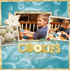 """Making Cookies"" digital scrapbooking layout"