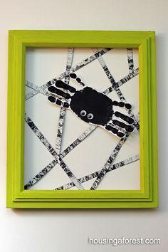 DIY handprint spider
