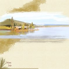 Salmon Lake-turning a photo into a painting with brushes and kit elements from Outdoor Adventures from Sheila Reid at Pixel Scrapper