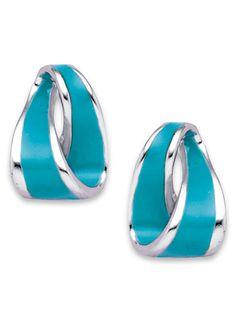 Rich turquoise enamel earrings at www.amerimark.com.  #turquoiseearrings #earrings #amerimark
