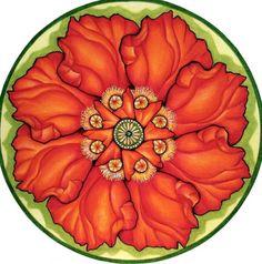 Poppy Mandala by Holli Zollinger- would make a lovely tattoo