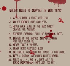How to survive in Bon Temps