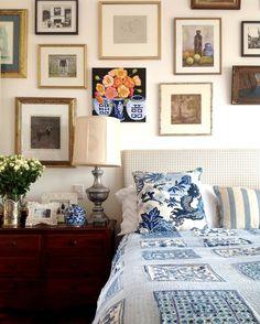 art wall in bedroom
