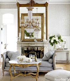 This is glamour, love the daybed ~ Annie Brahler