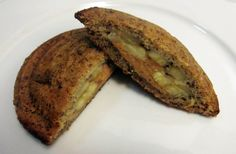 Banana Bread Pudgy Pie make with chocolate and bananas