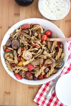 Balsamic Pasta Salad with Grilled Veggies from @Cassie Laemmli | @BakeYourDay