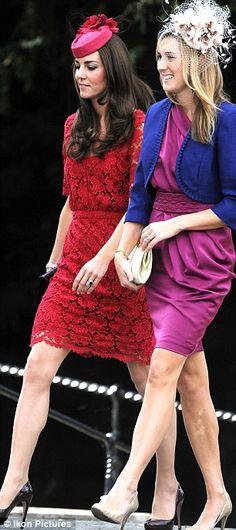 Kate wearing Erdem with Prada heels at a friend's wedding.