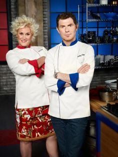 Bobby Flay and Anne Burrell!