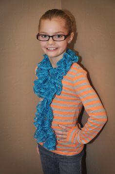 crocheted scarf, etsi find, etsi stuff, ruffl handcrochet, handcrochet scarf