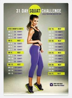 challenges, physic fit, squats, 30day squat challenge, health