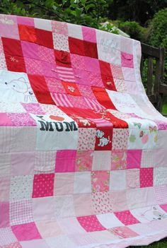 Baby clothes keepsake quilt