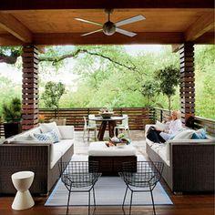 Zen-inspired backyard deck.