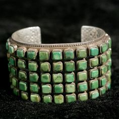 I love the squares!  Turquoise bracelet by Greg Thorne.