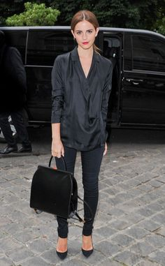 Emma Watson looks super chic in all-black!
