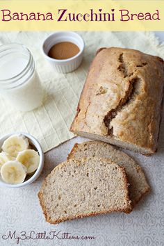 Banana Zucchini Bread Recipe - Looks so moist and yummy!