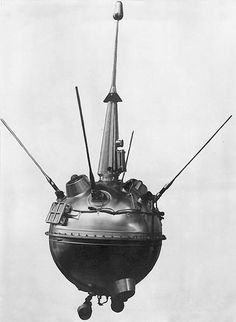 Timeline #7  1959: Luna 2 became the first man-made object to make contact with the Moon when it successfullycrashed into the Lunar surface. At this point the Soviets was well and truly 'winning' the Space Race.