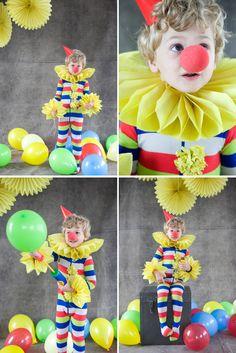 #costume di carnevale fai da te clown