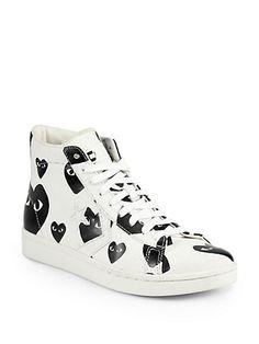 Shop now: Commes des Garcon Canvas High-Top Sneakers