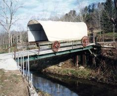Conestoga Wagon CB Notes # 48-40-A  Length = 31'  Photos by Mark Comstock (Dec 2002)  Location:  Across Hurricane Creek southeast of Hurricane. Teays Ln. WV34 south 1.2 miles from jct with WV34A (Main St.) in Hurricane, east on US60 2.9 miles to the bridge on the S. side of the road.  Putnam Co - WV