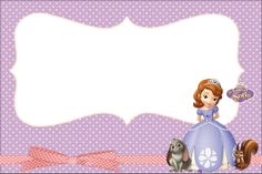 PRINCESA SOFÍA DISNEY - Kit Completo com molduras para convites, rótulos para guloseimas, lembrancinhas e imag...