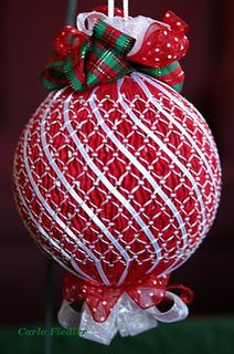 Smocked ornament