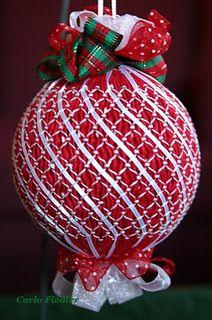 Smocked ornament