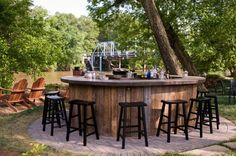 Outside bar idea. (At Canoe in Atlanta.)