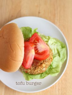 Tofu burger...will have to make some substitutes on the cheeses for fully vegan :)