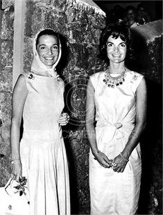 Lee Radziwill and Jacqueline Kennedy