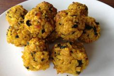 Easy cheesy vegan risotto balls. Gluten free and oil free too.