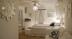 408 sq. ft. studio apt. studio apartments, hollywood glamour, ceiling fans, studio apt, bedroom walls, black white, white bedrooms, small spaces, homes